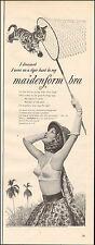 1953`Vintage ad for maidenform bra`Lion Sexy Model (080915)