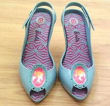 NIB Melissa Lady Dragon + BARBIE Vegan Shoes High Heels Pumps US 8 EUR 39