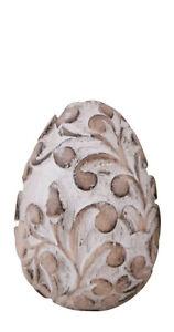 Ei Osterei Holz Ornament Deko Ostern Shabby Vintage