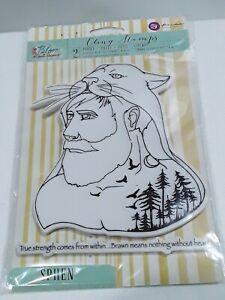 Prima Bloom Sphen 980535 1 large man cling stamp & 1 large sentiment stamp  NIP