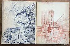 R.Nelli La tour foudroyée+A.Luthier Manoir 2 livres imprimés par P.Chapelot 1965