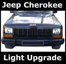 Pair of Crystal Halogen Headlights for Jeep Cherokee headlamp RHD upgrade kit H4