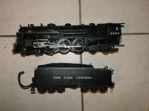 O Gauge 3-Rail K-Line K3270-53435 NYC 4-6-4 Hudson Steam #5343 RUNS & SOUNDS