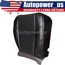 For 2007-2011 Cadillac Escalade Driver Side Bottom Leather Seat Cover Black