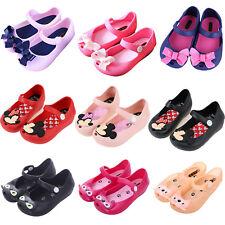 Kids Girls Cartoon Cat Mickey Minnie Bow Sandals Summer Princess Jelly Shoes