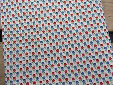 """Vintage Quilting Fabric Sweetest Tiny Tulips Print Cotton 30"""" w. x 1 Yard 1940s"""