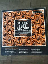 Stereo Test Record Realistic Home & Laboratory Includes Instructions vinyl