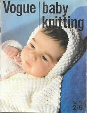 Vogue baby knitting pattern book #11 vintage 1965 birth to 3Y matinee jacket