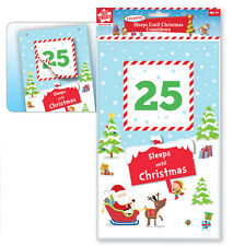 Countdown to Christmas Calendar Sleeps Until Christmas Countdown Tear Off