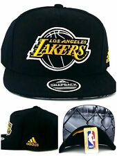Los Angeles Lakers New Adidas Playground Fence Black Gold Era Snapback Hat Cap