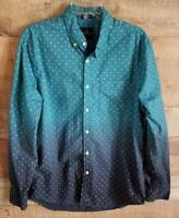 Mens L AE American Eagle Long Sleeve Button Down Shirt Teal/Blue Seriously Soft