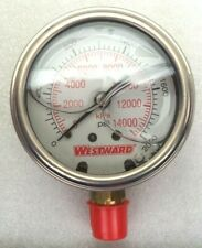"Grainger Westward 2-1/2"" 1/4"" NPT 2000-psi Liquid-filled Pressure Gauge 5WZ73"