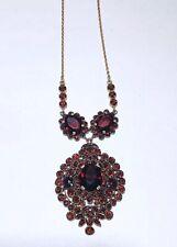 Antique Bohemian Garnet Czechoslovakia Necklace