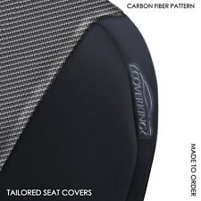 Coverking Carbon Fiber Neosupreme Front Tailored Seat Covers for Ford Mustang