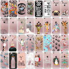 Christmas Winter Gift Patterned Soft TPU Case Cover For iPhone 4 5s SE 5c 6 6s