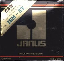 """1 Box 10 Janus 5 1/4"""" Floppy Diskettes HD  600 Oersted IBM AT NEW SEALED USA"""