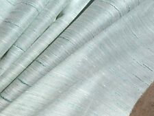 60's 70's VINTAGE Drapery Fabric Pale Teal Turquoise Duppioni Home Decor  2 YDS
