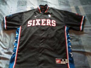 Official Philadelphia 76ers Medium Man Basket Ball Tracksuit Shirt Jersey.