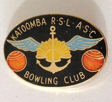 Katoomba RSL ASC Bowling Club Badge Pin Vintage Lawn Bowls (L33)