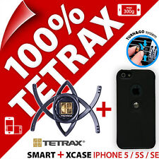 Tetrax Lot Smart Voiture Ventouse Support+ Xcase Noir Apple iPhone 5 / 5S / SE