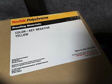 "(25) Kodak Polychrome Yellow Key Negative 0789395 20""×24"" New Nib Rare $99"