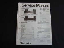 ORIGINALI service manual TECHNICS Ricevitore sa-ch750