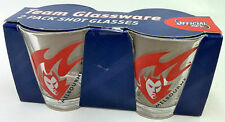 MELBOURNE DEMONS OFFICIAL AFL FOUR PACK SHOT GLASSES BRAND NEW IN BOX FREE POST