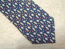 vineyard vines 40 Love Tennis Pattern Blue 100% Silk Tie NWT $85 Made in USA