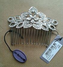 Debenhams Jon Richard Crystal embellished wedding flower hair comb slide (boxed)