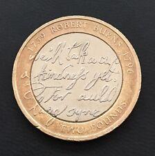 £2 Coin Robert Burns Auld Lang Syne 2009 FREEPOST