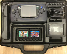 Sega Game Gear Console In Carry Case 2 Games Tested Working Charger Magnifier