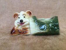 New listing Vtg Shabby Chic Yogi Bear (mouse?) Mid-Century Nursery Planter Vase Ceramic Vase