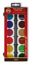 Koh-I-Noor 017550500000 30 12 Artists Transparent Water Colour Paint