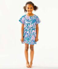 NEW Lilly Pulitzer GIRLS STASIA DRESS Pink Tropics Tint Tangerine Dream L XL