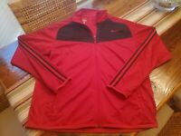 EUC Nike Men's Epic Jacket Full Zip #519534-495 Red and Black Sz Large L