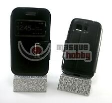 Funda Libro Iman Soporte Ventana Samsung Galaxy Young 2 II G130 Negro NEW