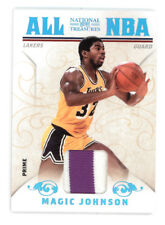 2009-10 NATIONAL TREASURES MAGIC JOHNSON ALL NBA PRIME GAME WORN PATCH 08/25
