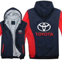 Toyota Style JDM LOGO Zip Up Zipper Zipped Men's Hoodie Jacket Coat High Quality