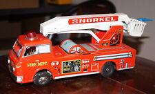 Blechspielzeug, Feuerwehrauto, FIRE DEPT. SNORKEL, Japan, 1960er Jahre