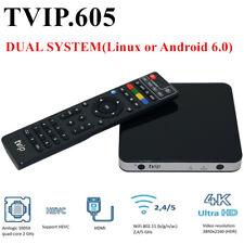 TVIP V.605 TV Box IPTV 4K HEVC Linux Android Multimedia Stalker Streamer WLAN