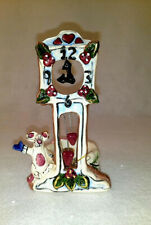 New Blue Sky Clayworks Grandfather Clock With P Bear Signed By Heather Goldminc