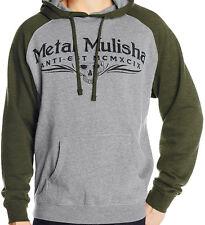 R1335 • Metal Mulisha Classic PO Hoodie • NWT Mens Large Army / Grey • #20220