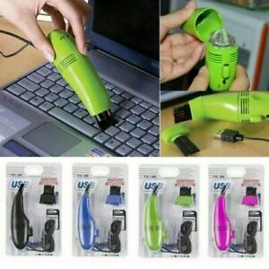 Mini USB Vacuum Keyboard Cleaner Dust Cleaning Kit Laptop Desktop PC Computer UK