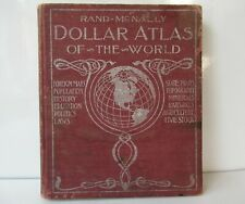 """New listing Antique Vintage Book """"Dollar Atlas Of The World"""" Hardcover Rand-Mcnally 1900"""