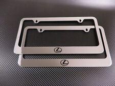 2 Brand New Lexus LOGO chrome Plastic license plate frame