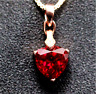 Top quality. Trillion Cut Pigeon Blood red Ruby sterling silver Pendant Necklace