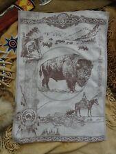 Buffalo Wall Art Bison Jacquard Woven Tea Towel, Brown Southwest Decor Tapestry