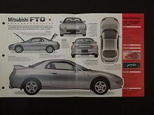 1997 Mitsubishi FTO IMP Hot Cars Spec Sheet Folder Brochure RARE