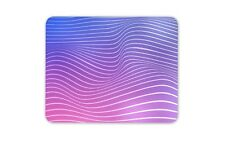 Ombre Pink Blue And Purple Waves Mouse Mat Pad - His Hers Gift Computer #14356