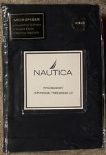 NEW NAUTICA RIGGER NAVY BLUE KING BED SKIRT Microfiber Washable